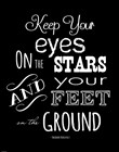 Keep Your Eyes On the Stars - Theodore Roosevelt by Veruca Salt art print