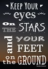 Keep Your Eyes On the Stars- Theodore Roosevelt by Veruca Salt art print
