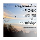 Imagination is More Important Than Knowledge - Albert Einstein by Veruca Salt art print