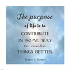 The Purpose of Life Square by Veruca Salt art print