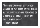 A Person's Character Lies in Their Own Hands -Anne Frank by Veruca Salt art print