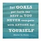 Set Goals square by Veruca Salt art print