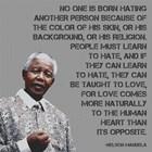 No One - Nelson Mandela Quote by Veruca Salt art print