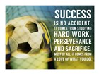 Success Soccer Quote by Sports Mania art print
