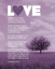 Corinthians 13:4-8 Love is Patient - Lavender Field by Inspire Me art print