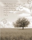 Zephaniah 3:17 The Lord Your God (Grey Landscape) by Inspire Me art print
