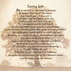 Living Life - Tree Silhouette by Bonnie Mohr art print