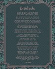 Desiderata Floral Frame Turquoise by Quote Master art print