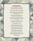 Desiderata Triangle Pattern Frame Blue by Quote Master art print
