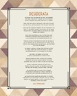 Desiderata Triangle Pattern Frame Beige by Quote Master art print