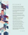 Desiderata Abstract Geometric Background by Quote Master art print