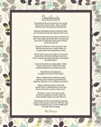 Desiderata Leaf Pattern Frame Light by Quote Master art print