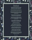 Desiderata Leaf Pattern Frame Dark by Quote Master art print