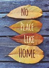 No Place Like Home Leaves by Color Me Happy art print