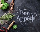 Bon Appetit Herbs and Spices by Color Me Happy art print