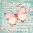 Pink Butterfly by P.S. Art Studios art print