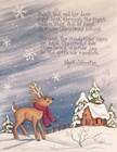Saint Nick and His Deer by Beverly Johnston art print