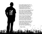 If by Rudyard Kipling - Man Silhouette White by Quote Master art print
