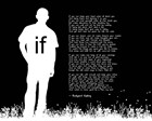 If by Rudyard Kipling - Man Silhouette Black by Quote Master art print
