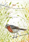 Robin Postcard by Michelle Campbell art print