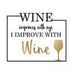 Just Wine 1 by Kimberly Allen art print