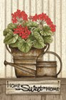 Home Sweet Home Geraniums by Linda Spivey art print